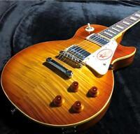 2020 LP Electric Guitar Figured Maple Veneer Tobacco Finish TOM Bridge In Stock