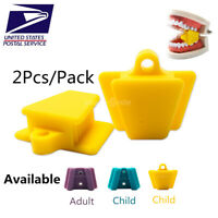 Easyinsmile Dental 2Pcs Bite Block Autoclavable Silicone Mouth Props Adult/Child