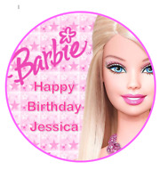 Barbie personalised edible Image cake topper real icing sheet 19cm #110
