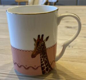 Yvonne Ellen Giraffe Mug With Gold Trim