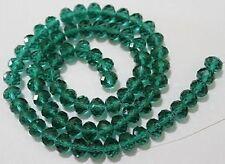 4x6mm Dark green Crystal Loose Beads 98pcs Free Shipping   F.11