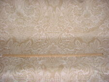 14-1/8Y BEAUTIFUL COWTAN TOUT FIORENTINA FLORAL DAMASK LINEN UPHOLSTERY FABRIC