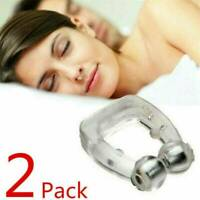 2 * Clipple Silicone Magnetic Anti-Snore Stop Snoring Nose Clip For Sleeping Aid