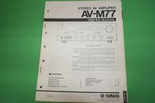 Originale Service Anleitung und Schaltplan Yamaha AV-M77 Stereo AV Amplifier!!