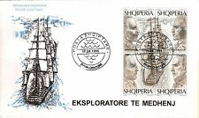 Albanian Stamps 1995. Explorers; Voyagers. FDC Set Mich. 2561-2564
