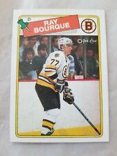 1988-89 O-Pee-Chee Boston Bruins Hockey Card #73 Ray Bourque