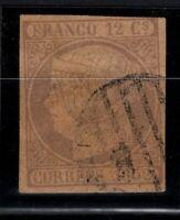 P133205/ SPAIN – ISABELLA II - EDIFIL # 13 USED – CV 225 $