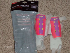 Nike Youth Charge Soccer Shin Guard, Orange/Purple/Yellow! Size Youth Small!