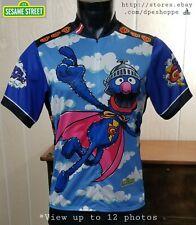 Pearl Izumi Sesame Street 35 Super Grover 3/4 Zip S/S Cycling Jersey Sz M *Note