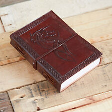 Fair Trade Handmade Indra Celtic Dragon Leather Journal 2nd Quality