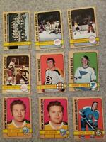 Topps 1972-73 Hockey 28 Card Lot Ken Dryden and more