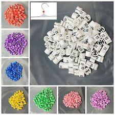 "100Pcs Colored Hanger Sizer Garment Markers ""XXS-5XL""Plastic Size Marker Tags"
