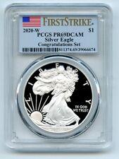 2020 W $1 Proof American Silver Eagle Congratulations 1oz PCGS PR69DCAM FS