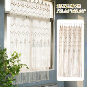 Bohemia Macrame Wall Hanging Tapestry Room Door Window Curtain Wedding Backdrop