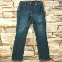 "NYDJ Womens Jeans size 14 Dark Wash Slim Straight Jeggings x30""in Cotton Stretch"