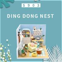 DIY Craft Handmade Kit Cute Bedroom Furniture Dollhouse Miniature Wooden Models