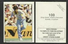 AUSTRALIA 1983 SCANLENS CRICKET STICKERS SERIES 2 - DILIP DOSHI  (INDIA) # 100