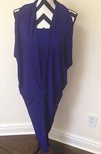 Donna Karan Black Label Infinity Stretch Dress Royal Blue Size Large Retail$995