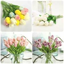 7 Colors Artificial Flowers Tulip Bridal Bouquet Wedding Party Home Decoration