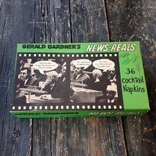 GERALD GARDNER'S POLITICAL HUMOR/ SATIRICAL NEWS-REALS BOX OF COCKTAIL NAPKINS
