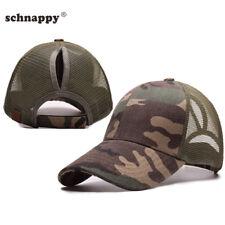 2018 Camouflage Ponytail Mesh Gilrs Baseball Cap Bun Baseball Hat Sport Caps