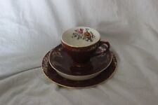Beautiful Vintage Empire Roses Bone China Trio Tea Cup Saucer Side Plate
