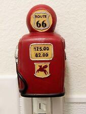 Route 66 Retro Gas Pump Nightlight Lamp Candle Automotive Home Decor Souvenirs