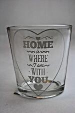 Teelicht Halter Windlicht Glas 7,5 cm HOME Wohnaccessoires Deko Geschenk Liebe
