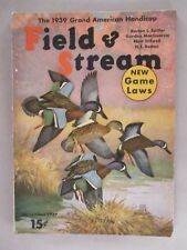 Field & Stream Magazine - November, 1939 ~~ New Game Laws ~~ Field and Stream