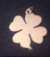 14K Gold Charm Clover Irish A97