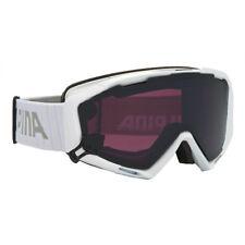 Alpina Panoma S Magnetic white Quattroflex Skibrille mit Wechselscheibe