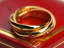 CARTIER CONSTELLATION TRINITY RING 18K GOLD DIAMOND++RUBY++SAPPHIRE BAGUE ANELLO