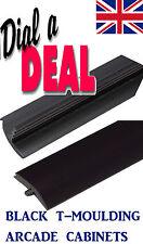 10FT ROLL NEW 18mm MATT Black ARCADE T-moulding 3/4