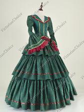 Victorian Civil War Brocade Dress Ball Gown Reenactment Theater Clothing N 188 S
