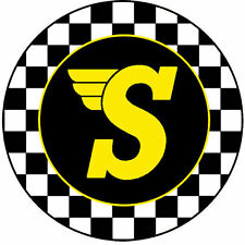 Speedwell Round Sticker 10cm (Classic Mini Cooper VW Camper Beetle)