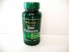 Puritan's Pride Saw Palmetto 450 mg 100 Capsules Men Urinary Health Made in USA