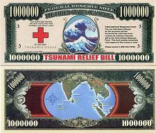 1 million Dollar Tsunami Relief Bill 2004 X 10 Pieces Lot - Novelty Money
