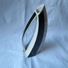 Lindner Kueps Vase schwarz/weiss 50er Jahre Porzellan Henkelvase tolle Form Top