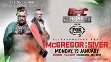 CONOR MCGREGOR v DENNIS SIVER UFC MMA AUSTRALIAN FOX TV PROMO FIGHT POSTER