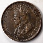 1916-I Australia Half Penny Bronze Coin HIGH GRADE 8 Pearls (L286)