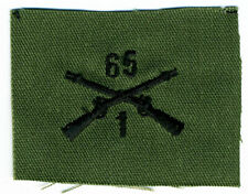 New listing Us Army Cloth Officer Collar Insignia: 1st Battalion 65th Infantry Regiment