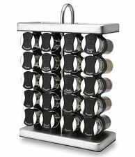 Olde Thompson 20 Jar Stainless Steel Traditional Spice Rack w Spices NEW IN BOX