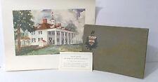 Mount Vernon Handbook 1899 Harrison Dodge, 1937 Mount Vernon Print By Dalrymple