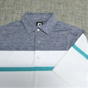 FOOTJOY STRETCH POLY SPANDEX GOLF SHIRT--L--FANTASTIC LOOK/COLORS and QUALITY