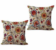 US SELLER-set of 2 retro vintage floral cushion cover pillow throw decor