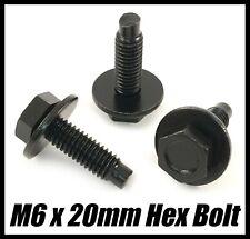 5x Bolts For PEUGEOT NISSAN SKODA BMW Hex Screw Ring Washer Black Metal M6x20