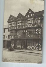 Postcard Three Feathers Hotel Ludlow 1937 Salop Motorcycle