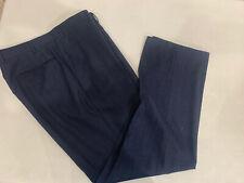 Canali Men's Blue Textured Dress Pants 36x31 $495