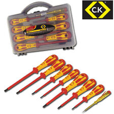 CK DEXTRO 8 Piece 1000 V Insulated VDE Pozi (Pz) & Slot Screwdriver Set, t49193