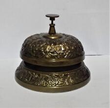 OTTONE antico servizio Reception Desk Bell RIPIANO SUONERIA PER HOTEL